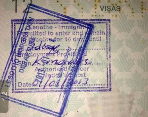 My Lesotho Stamp